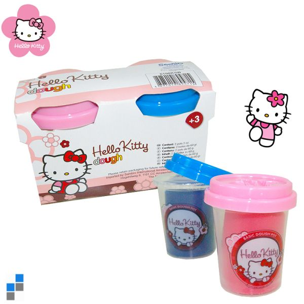Knet Set in Eimer 2-teilig Hello Kitty
