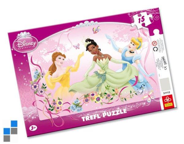 Puzzle 15 pcs<br>33x23cm Princess