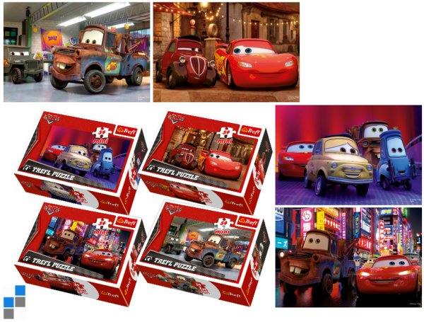 Mini Puzzle<br> 54-piece Cars 2 in<br>the display