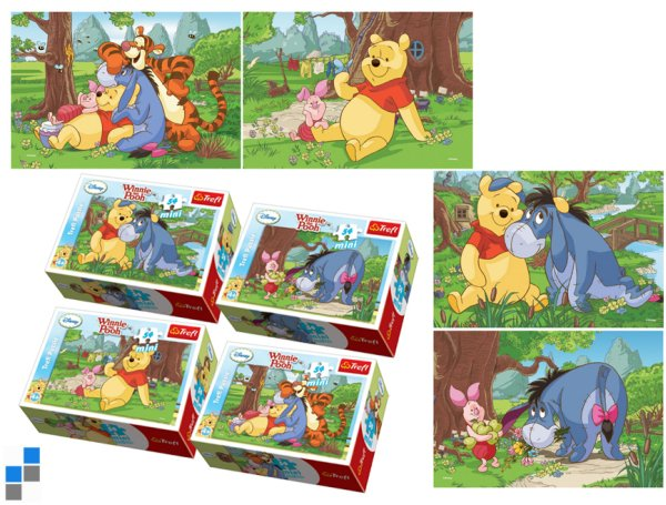 Mini Puzzle<br> 54-Piece Winnie<br> the Pooh in the ...