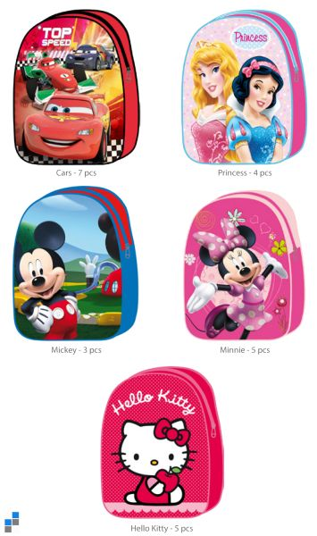 Kids Backpack<br> sorted 5x 28cm<br> Disney