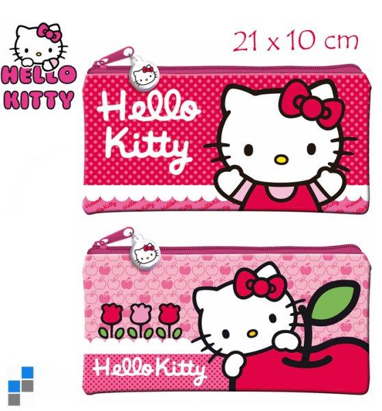 Schulmäppchen 2-fach sortiert 21cm Hello Kitty