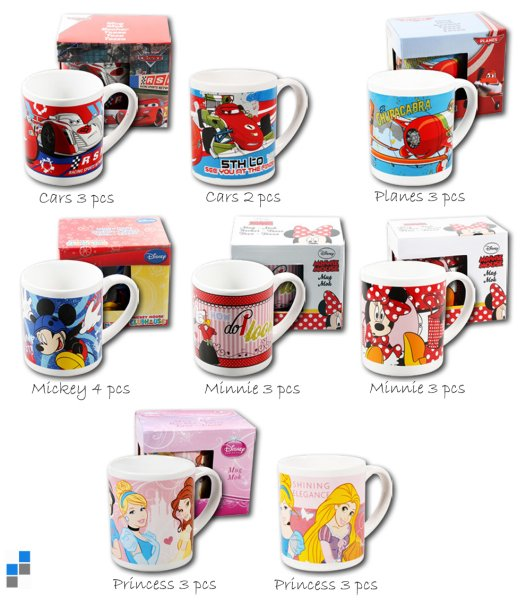 Children 8 cup<br> assorted Ø7x8,5cm<br>Disney