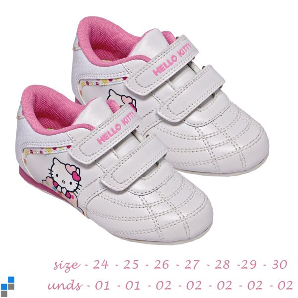 Sports shoes size<br> 24-30 sorted Hello<br>Kitty