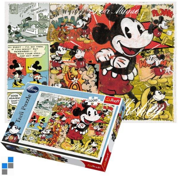Puzzle 1000-teilig<br>48x68cm Mickey Retro
