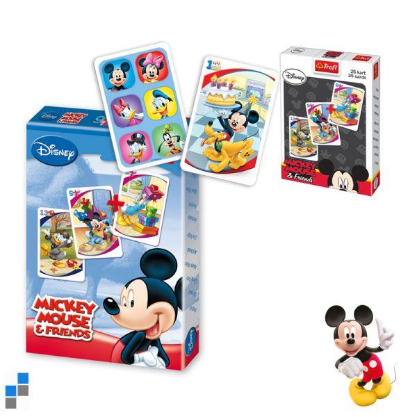 Schwarzer Peter<br> Spielkarten Mickey<br>im Display