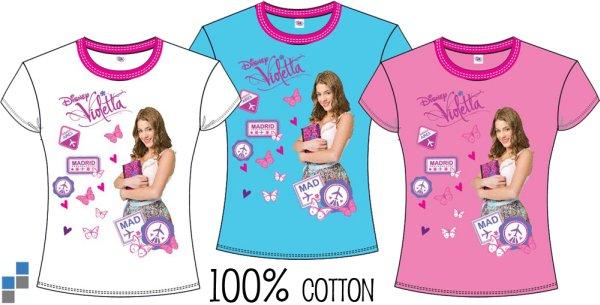 T-shirt 3 assortis Violetta taille 3-10 ans