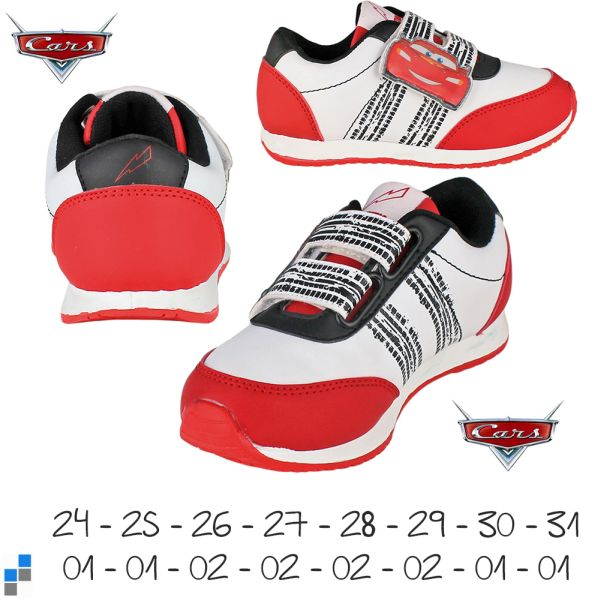 Sports shoes size<br> 24-31 sorted<br>Disney Cars
