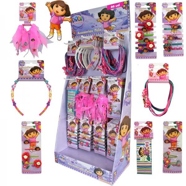 Hair accessories<br> Dora sorted in the<br>display A