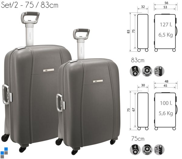 Reisekoffer<br> Trolley Set<br>2-teilig 75/83cm PP