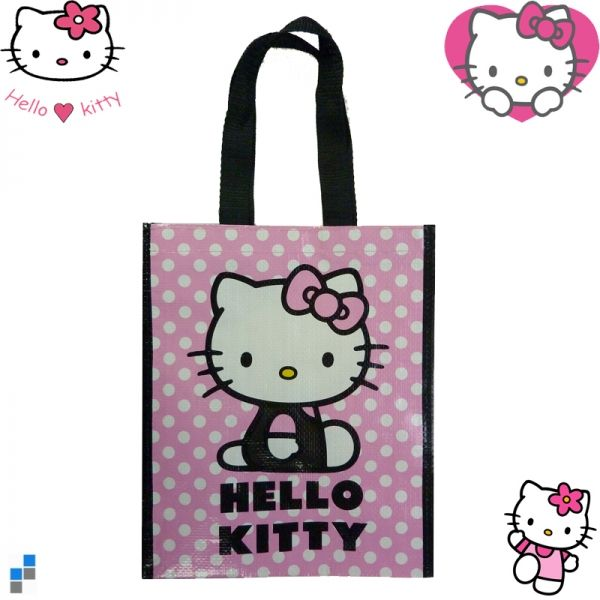 Shopping Bag Hello<br> Kitty Dots<br>33x25x13cm
