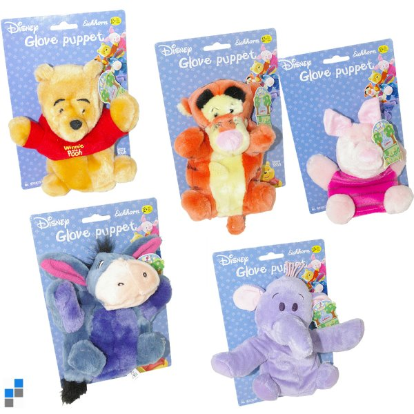 Hand Puppet 5<br> assorti 19cm<br>Winnie the Pooh