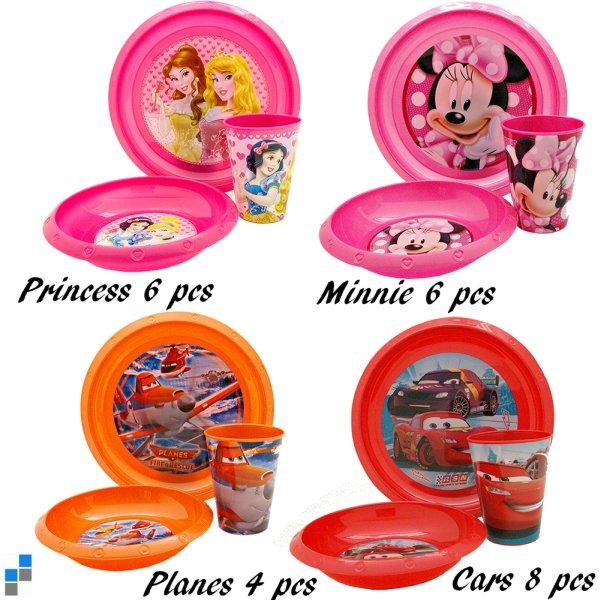 Petit déjeuner Set 3 pièces 4 assortis Disney