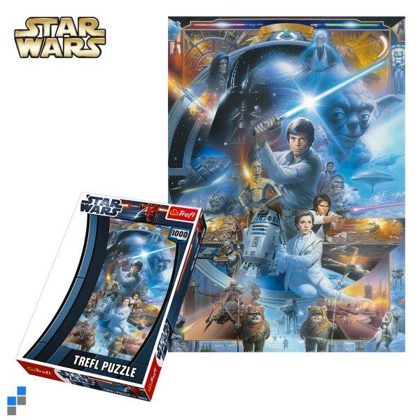 Puzzle 1000-teilig<br> 48x68cm Star Wars<br>in Verpackung