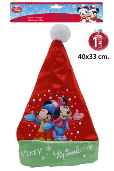 Santa Hat 40x33cm<br> Disney Mickey /<br>Minnie