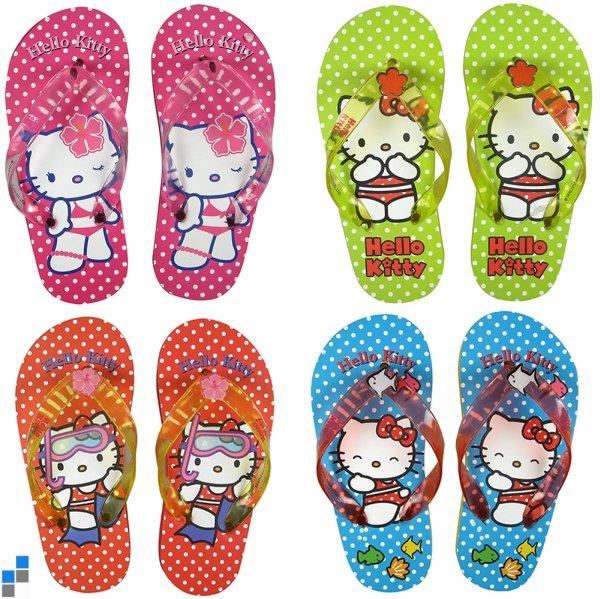 Flip Flops 4-fach sortiert Größe 27-34 Hello Kitty