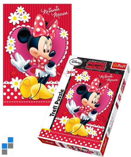 Puzzle 260 pcs<br> 60x40cm Minnie in<br>packaging
