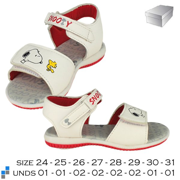 Summer shoes<br> sandals size 24-31<br>sorted Snoopy