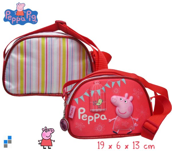 3D shoulder bag<br>19cm Peppa Pig