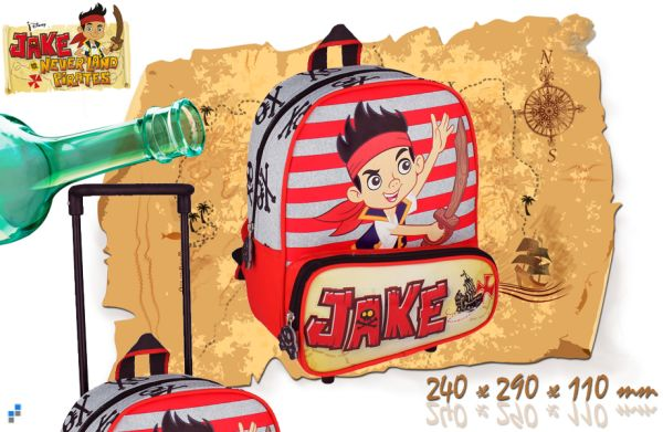 Vorschul Rucksack<br> Trolley - Jake<br>Pirate 29 cm