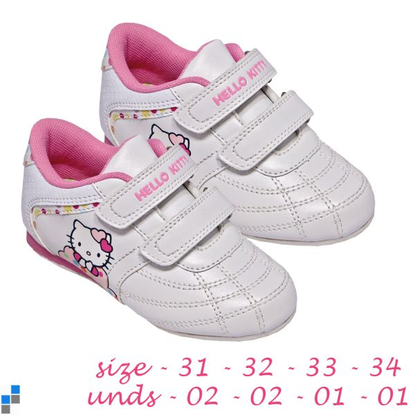 Sports shoes size<br> 31-34 sorted Hello<br>Kitty