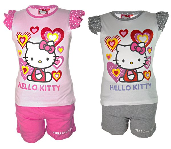 Beach Situé Hello Kitty Top & Shorts Taille 2-