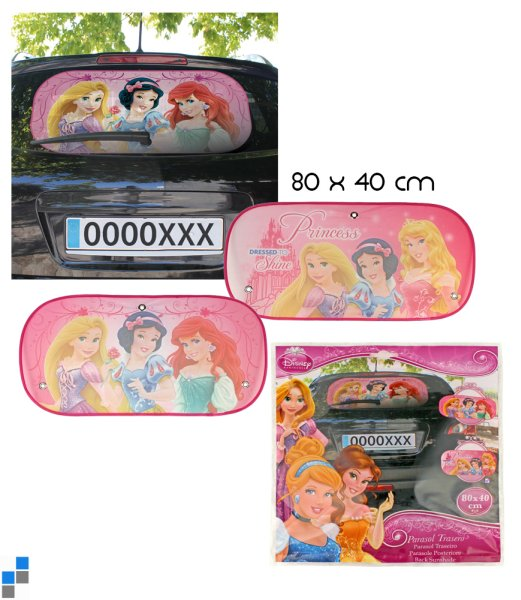 Car sunshade 2<br> assorted Disney<br>Princess
