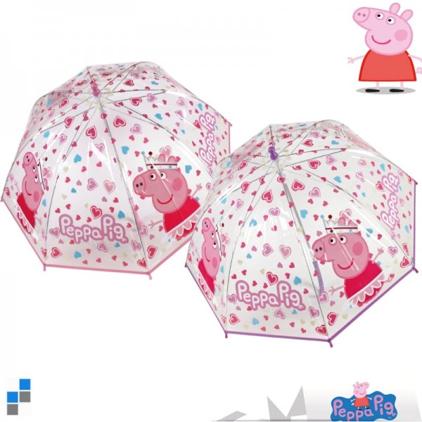 Umbrella<br> transparent Peppa<br>Pig r45cm