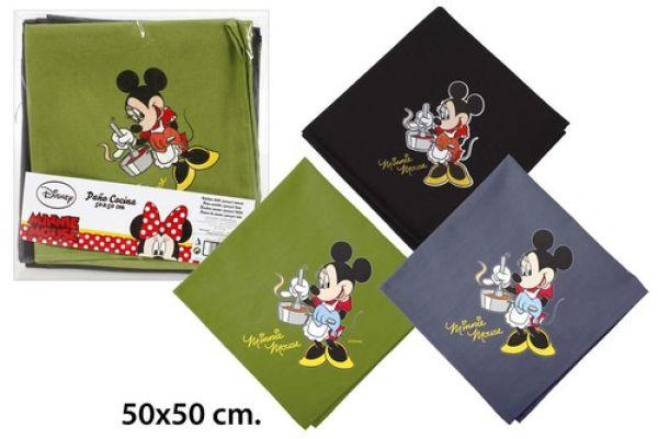 Kitchen towel<br> 50x50 3 assorted<br>Disney Minnie