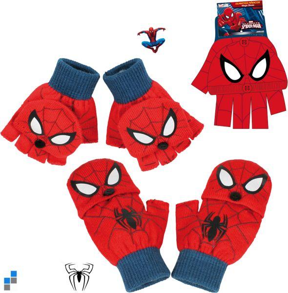 Premium Winterhandschuhe Spiderman mit PVC Flicken