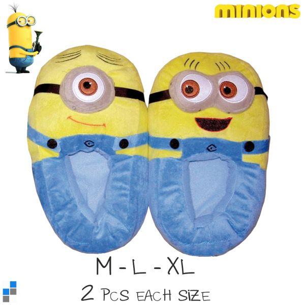 Hausschuhe<br> Pantoffeln 3D<br>Größe 32-41 Minion