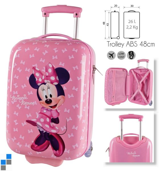 Reisekoffer<br> Trolley Minnie<br>48cm ABS 2 Räder