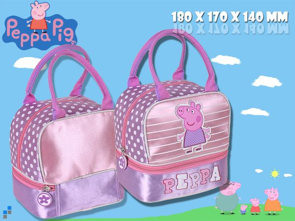 Kindergarten bag with bread tray Peppa Pig