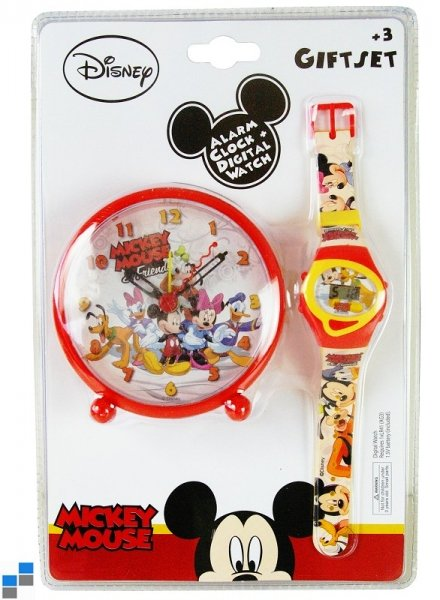 Digital Watch<br> &amp; Alarm Table<br>Clock Mickey