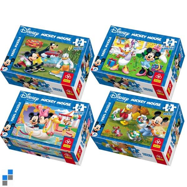 Mini Puzzle 54 pièces Mickey à l'écran