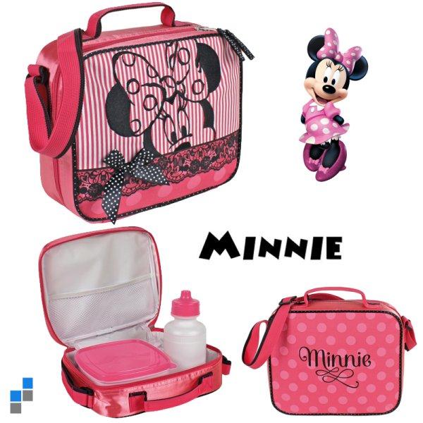 Umhängetasche Minnie mit Trinkflasche und Brotbox
