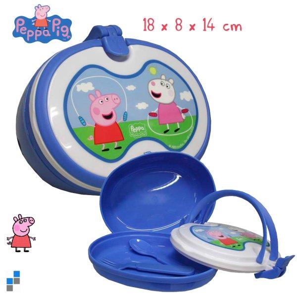 Lunchbox mit<br> Besteck 18cm Peppa<br>Pig