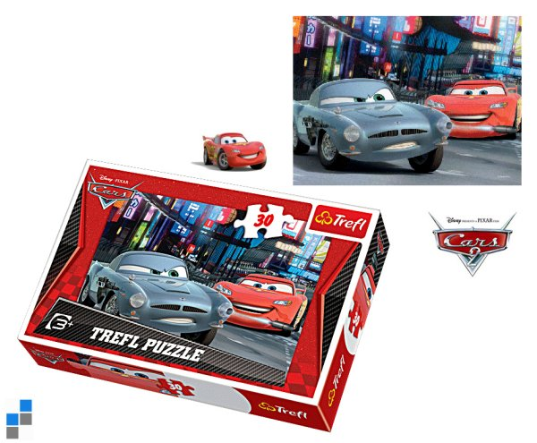 Puzzle 30-teilig<br> 27x20cm Cars in<br>Verpackung