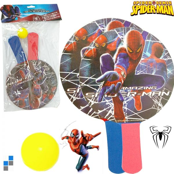 Beach bat and ball<br> game with 2<br>Spiderman