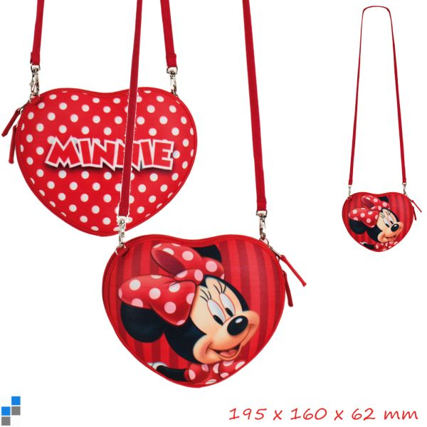 Shoulder Bag 3D<br> Heart 20cm Disney<br>Minnie