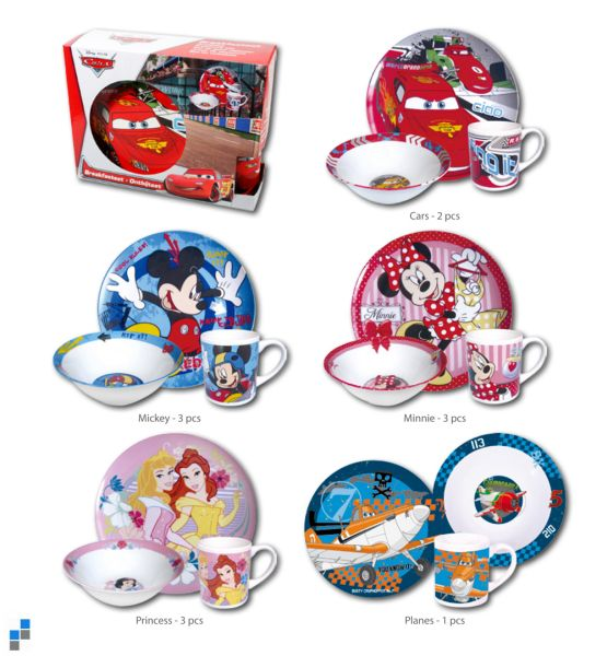 Porcelain<br> Breakfast Set<br> 3-Piece 5-fold ...