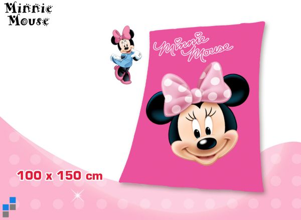Polar Fleecedecke 150x100cm Disney Minnie
