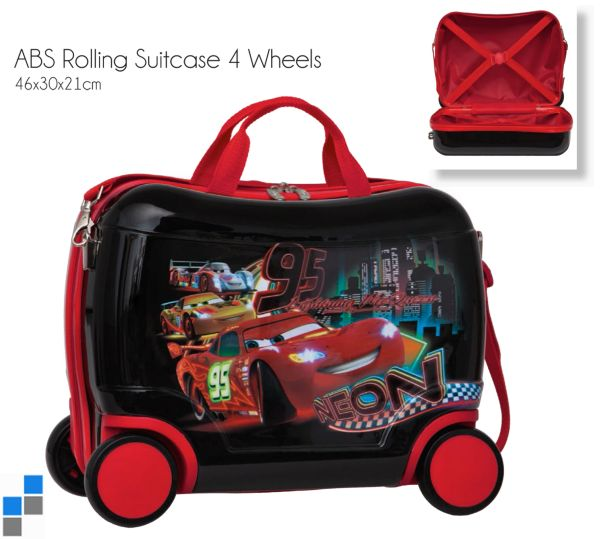 Reisekoffer /<br> Sitz-Trolley -<br>Cars ABS 4 Räder