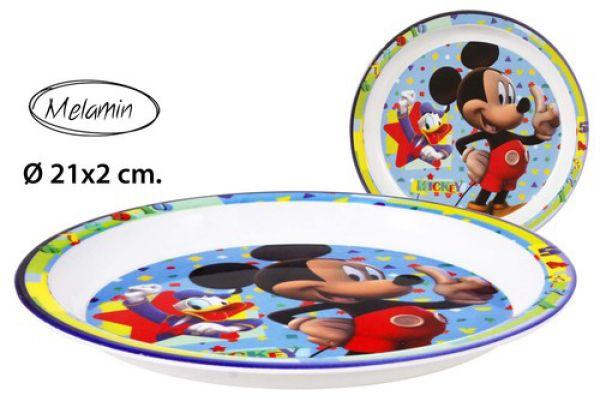 Melamine plate<br> Ø21x2cm Disney<br>Mickey
