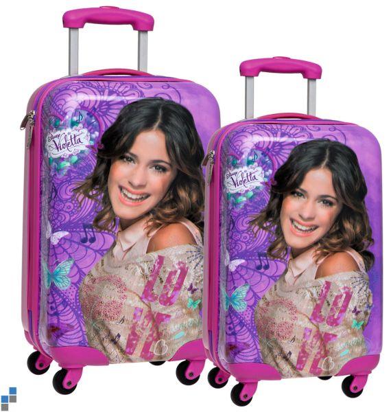 Reisekoffer<br> Trolley Set<br> 2-teilig Violetta ...
