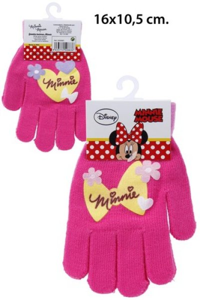 Winter Gloves<br> Disney Minnie with<br>PVC Patch