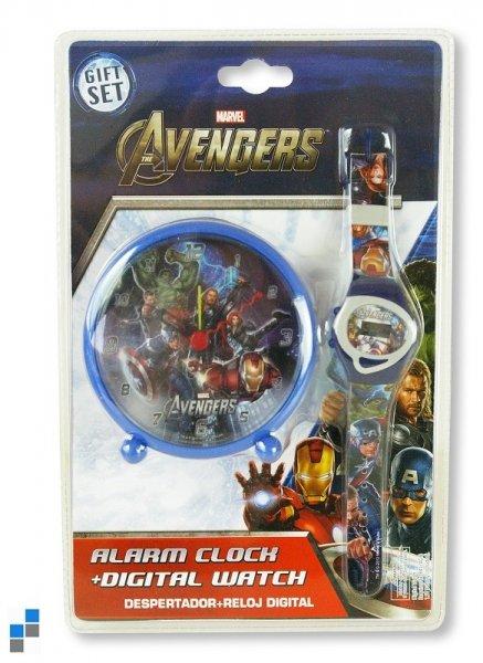 Cyfrowy zegarek i<br> budzik Zegar<br>stołowy Avengers