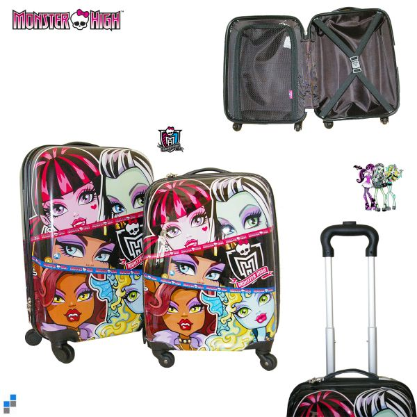 Reisekoffer<br> Trolley Set<br> 2-teilig Monster ...