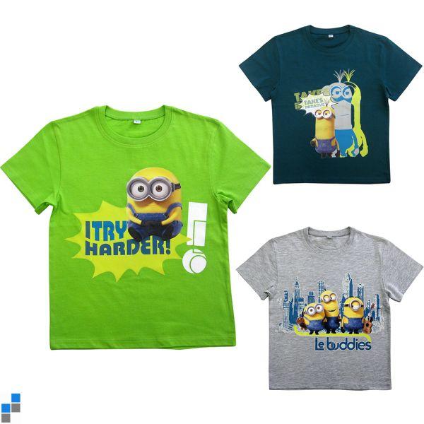 T-Shirt 3-fach sortiert Minion Größe 2-8 Jahre