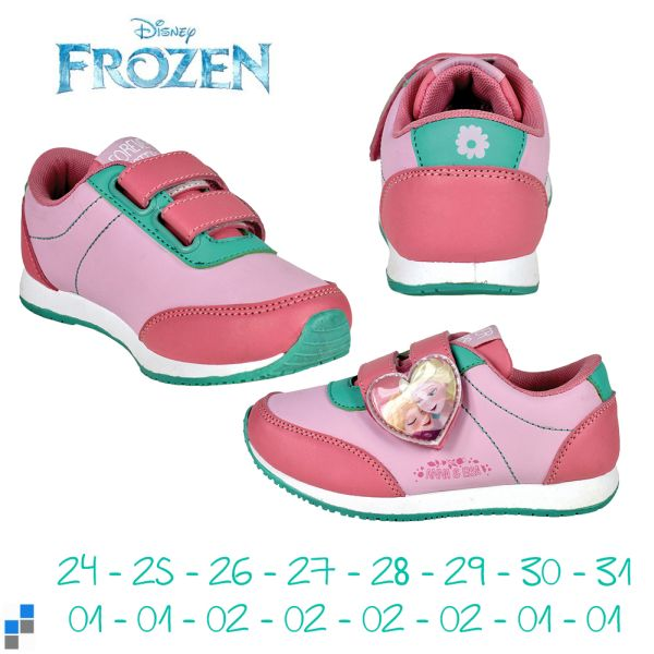 Sports shoes size<br> 24-31 sorted<br>Disney frozen